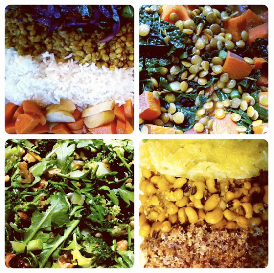a sampling of ayurvedic foods
